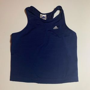 Blue adidas tank top mesh back size large